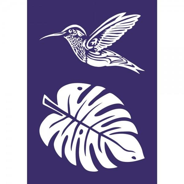 Schablone Kolibri A4 + Rakel