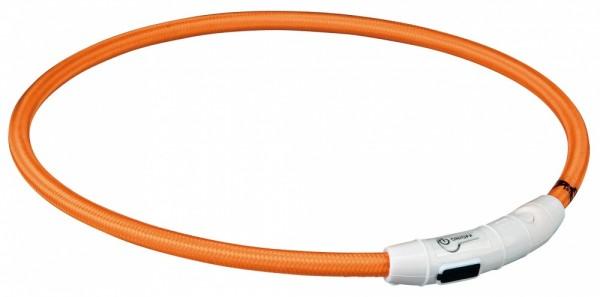 Trixie Flash Leuchtring USB orange L-XL 65 cm / 7 mm