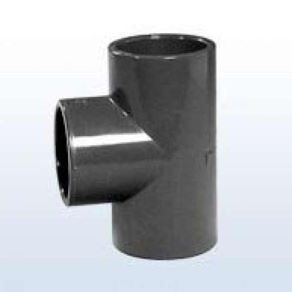 PVC-T-Stück 90°, 3x Klebemuffe, 40 mm