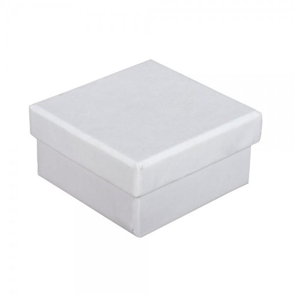 Pappmache Boxen 6x6x3cm 4St. weiß