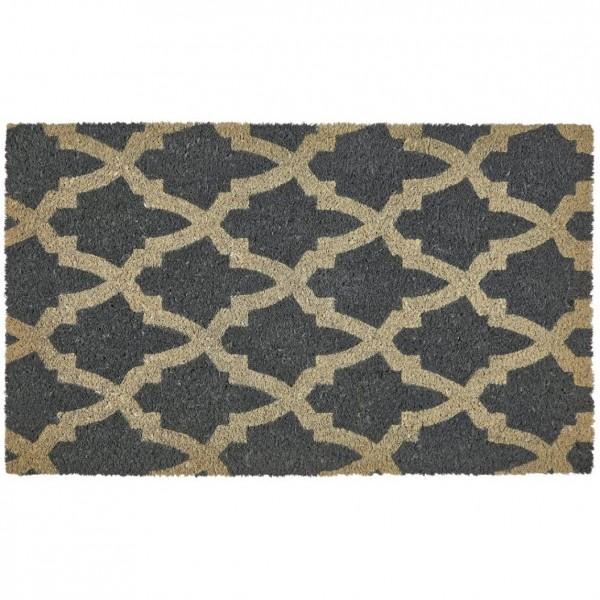 Gift Company Fußmatte Kokos 'Trellis' beige/grau 75x45cm