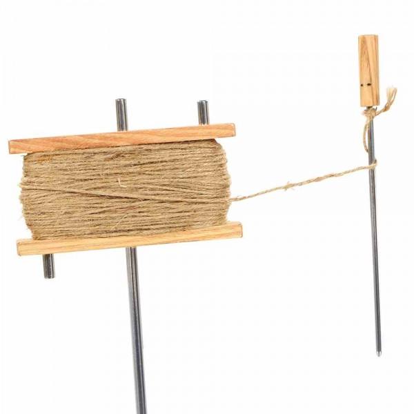 Jutespule Holz Ed Rahmen Bindematerial Befestigungsmaterial