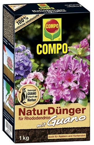 COMPO Bio Naturdünger für Rhododendron mit Guano 1kg