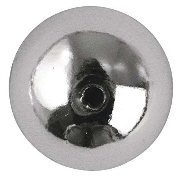 Plastik Rundperle 10mm silber
