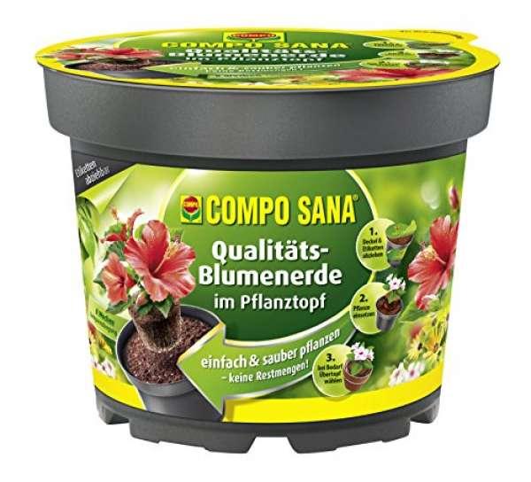 COMPO SANA Qualitäts-Blumenerde im Pflanztopf 3,5 Liter