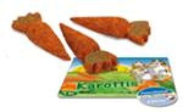 JR Farm Knabber-Holzrolle Karotten 150g