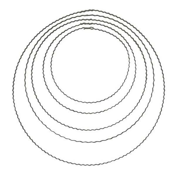 Metall Ring Flachdraht 25cm