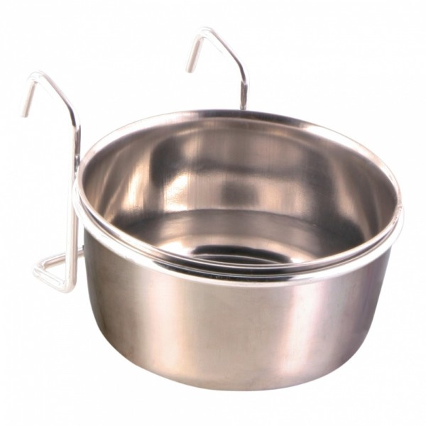 Trixie Edelstahlnapf mit Halter 300ml / ø 9 cm