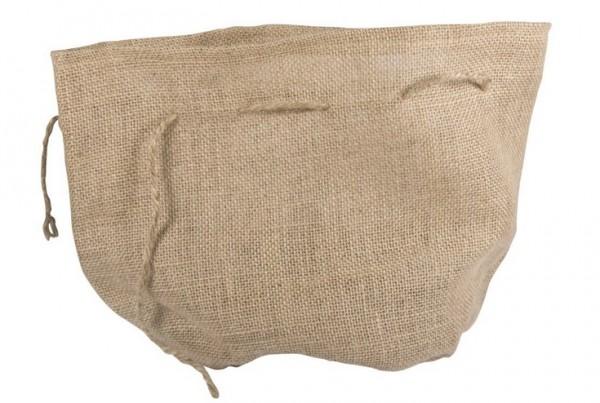 Jutesack mit rundem Boden, 21cm ø, 27cm, mit Jutekordel