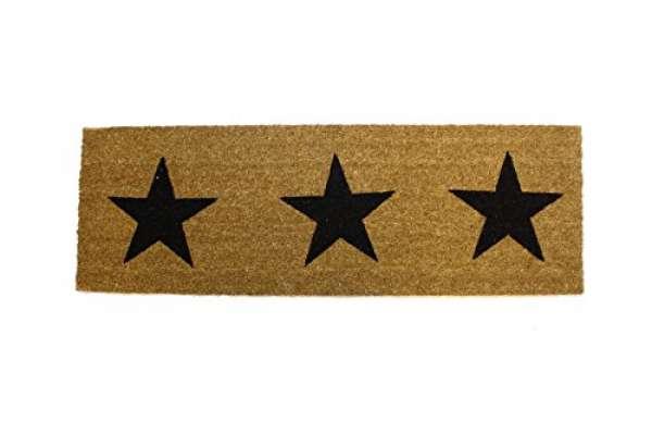 Fußmatte Sterne schwarz 40x120cm