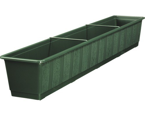 """Lippert 803 100 11 Blumenkasten """"Standard"""" 100 x 17,5 cm n aus Kunststoff dunkelgrün"""
