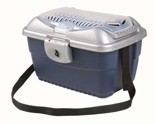 Trixie Transportbox Mini-Capri hellgrau/blau, 40 x 22 x 30 cm