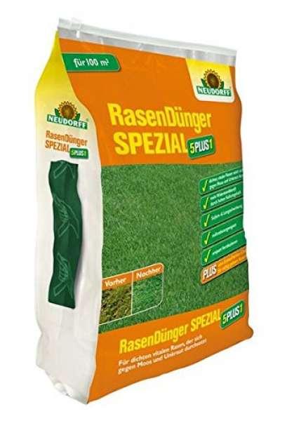 NEUDORFF RasenDünger Spezial 5PLUS1, 10kg für 200 m²