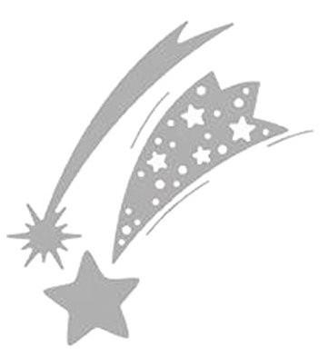 Stanzschablone Sternschnuppen