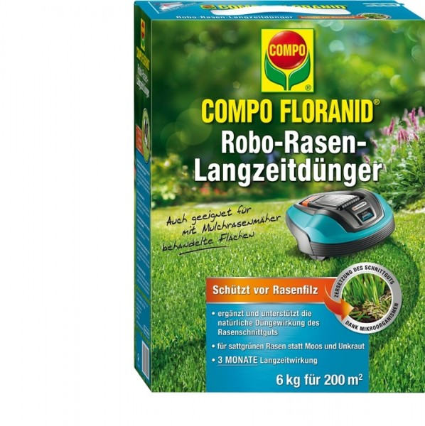 COMPO FLORANID Robo-Rasen Langzeitdünger 6 kg