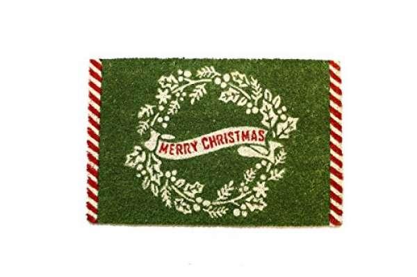 Fußmatte Merry Christmas grün rot 40x60cm