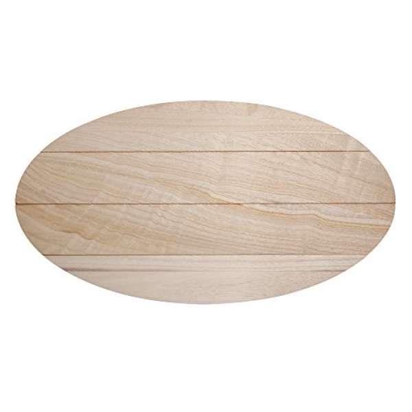 Holz Board oval 38x21x0,7cm +15Haken