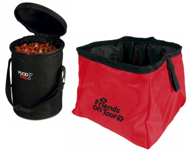 Trixie Reise-Set Foodbag & Napf Nylon, 1,8 Liter