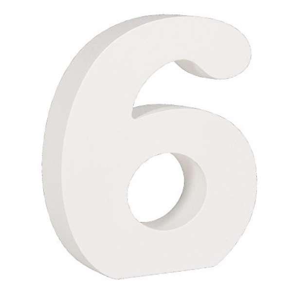 Nummer 6 weiß