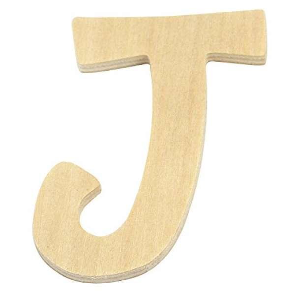 Holz Buchstabe J