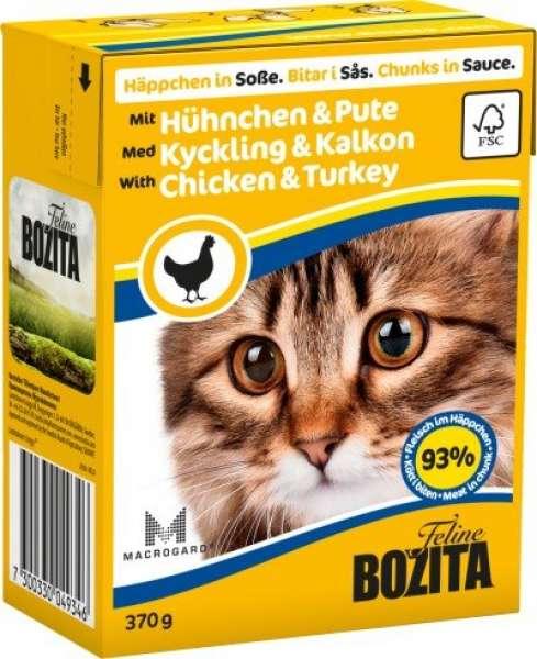 Bozita Häppchen in Soße mit Hühnchen & Pute 370g