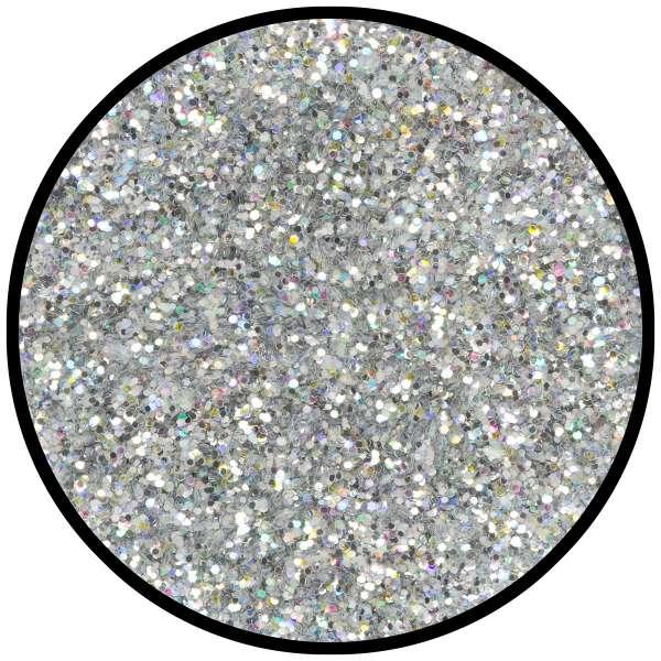 Silber-Juwel mittel holographisch 6g