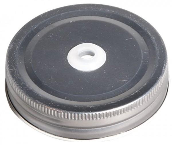 Schraubdeckel m.Trinkhalmloch D:70mm
