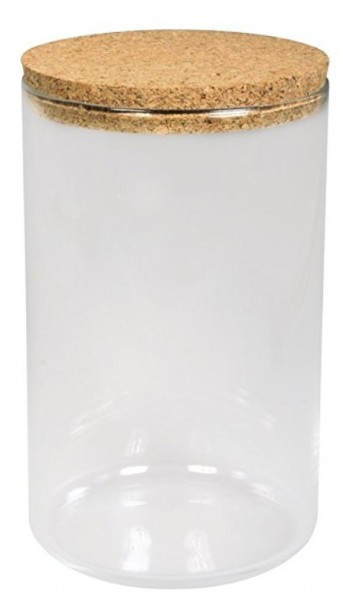 Glas Gefäß mit Korkdeckel D9,5cm