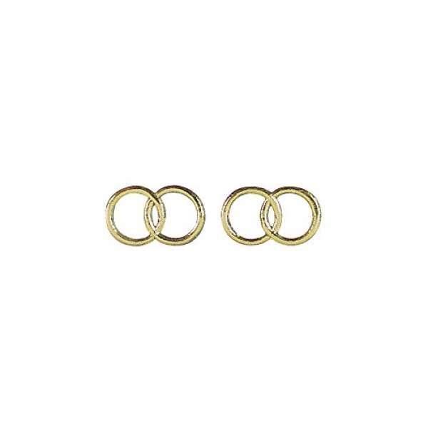 Wachs Motiv Eheringe D2,5cm 2Paar gold