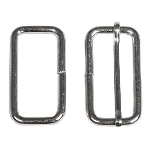 Metall Element eckig f.Gurt 3,8cm silber