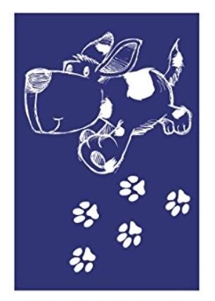 Schablone Hund A5 +Rakel