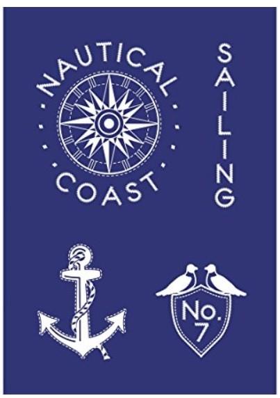 Schablone Sailing A5 +Rakel