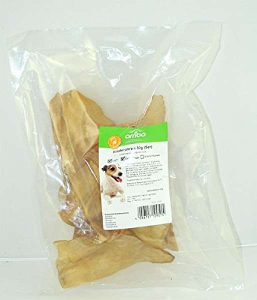 arriba Hundesnack 5er Pack Rinderohren