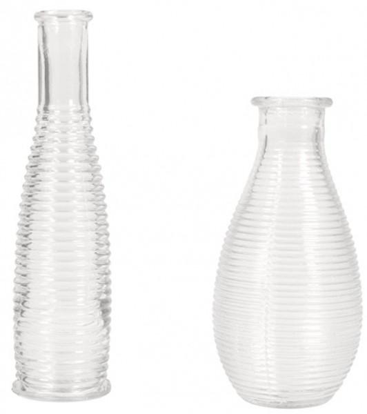 Set Rillen-Vase 2 Stück