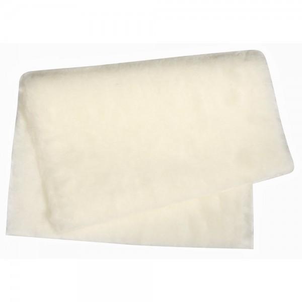 Kurzhaarplüsch 35x50cm 1,2cm weiß