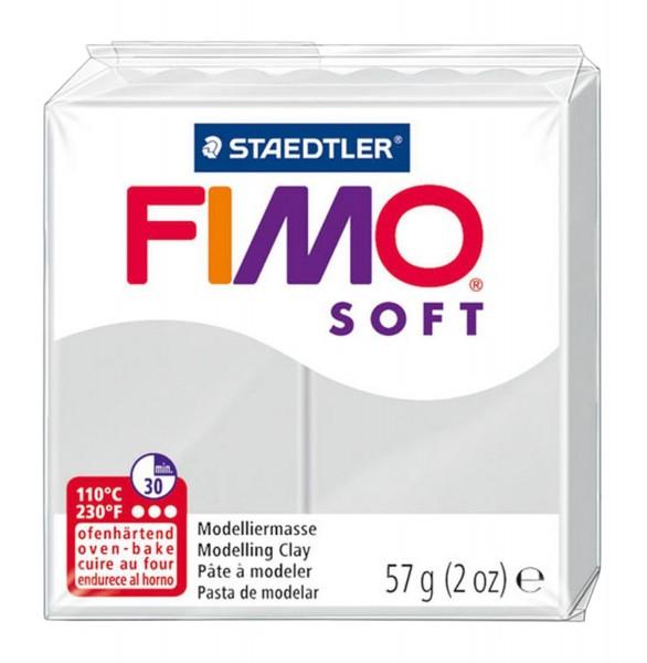 Fimo soft 57g hellgrau