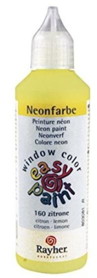Neonfarbe easy paint zitrone