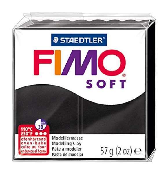 Fimo soft 57g schwarz