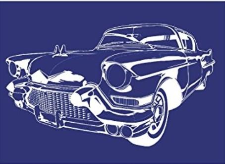 Schablone Cadillac A4 +Rakel
