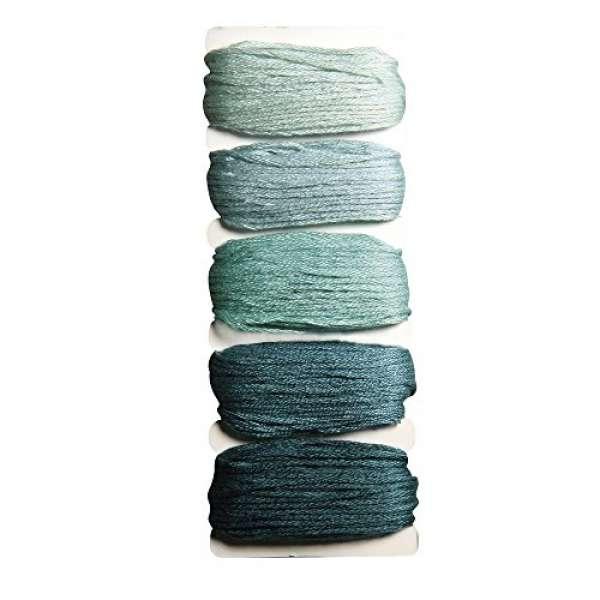 Garn Stitch&Knot 5x10m grün blau