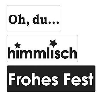 "Labels ""Oh, du..., himmlisch, Frohes Fest"""