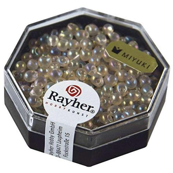 Miyuki-Perle-Drop, 3,4mm ø lachsrosa