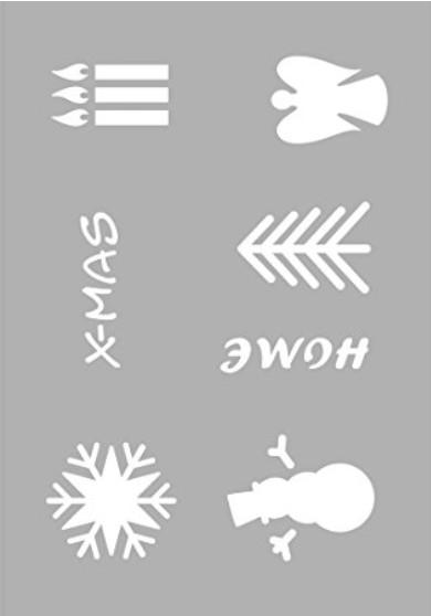 Schablone Weihnachtsmotive A5 210x148mm