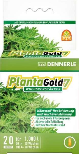 Dennerle 4473 Planta Gold 7 Wuchsverstärker für Aquarienpflanzen, 20 Stück