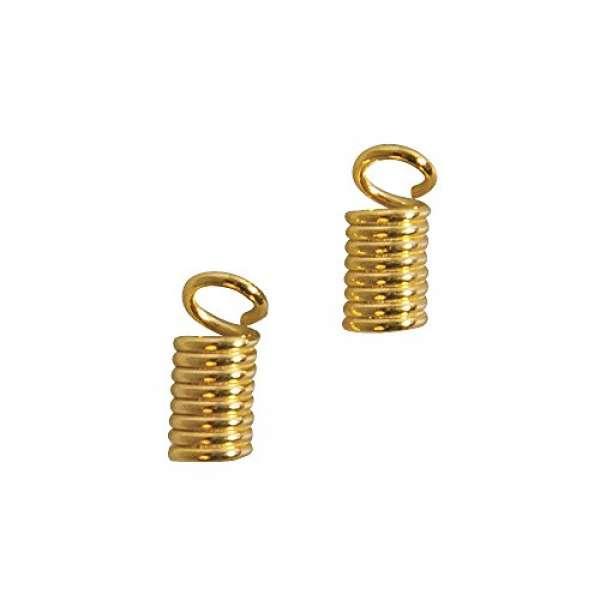 Lederriemen Verbinder D2mm gold