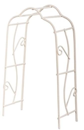 Rankbogen weiß 8,2x4,1x15,5cm