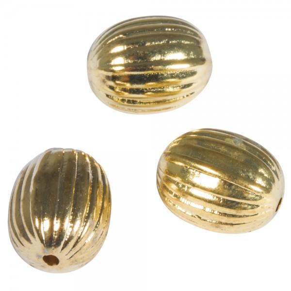 Rille Olive 10x13mm gold