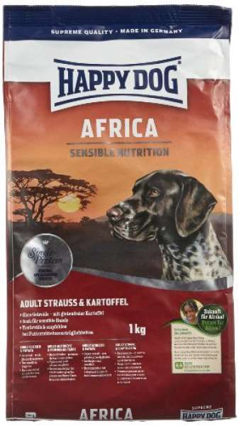 Happy Dog Sensible Africa mit Strauss & Kartoffel