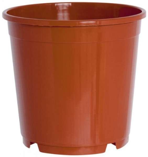 Geli Kunststoff-Containertopf, rund, terrakotta