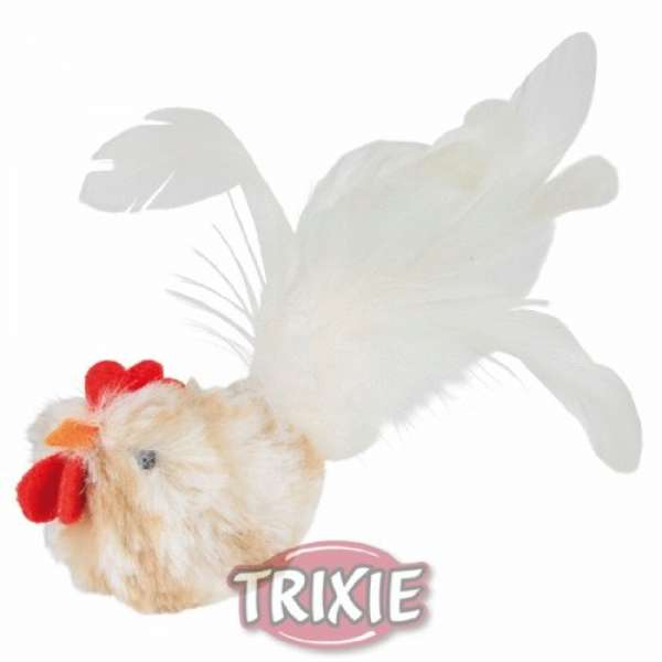 Trixie Hahn mit Federn, Plüsch, 8 cm